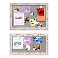 image of Alexandria Whitewash Framed Magnetic Board