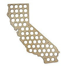 image of Beer Cap California Map Wall Art