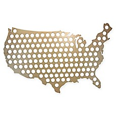 image of Beer Cap Map of USA