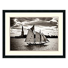 image of John Brooknam The Clipper and The Liberty Framed Art Print