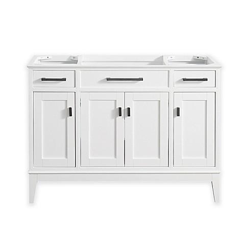 Avanity madison 48 inch single vanity base in white bed for 48 inch bathroom vanity base