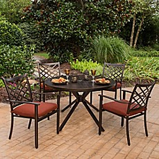 image of Agio™ Haywood 5-Piece Combo Outdoor Dining Set in Bronze/Sienna
