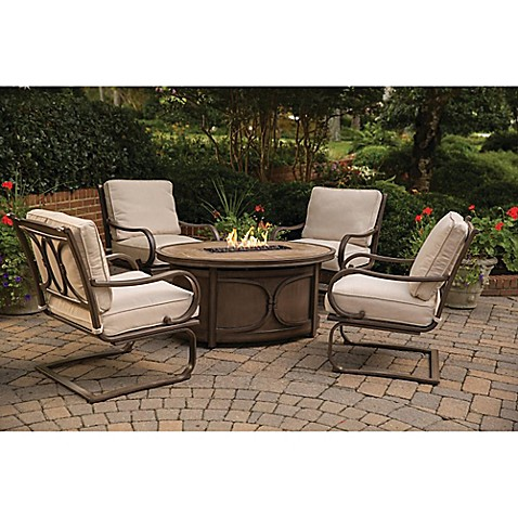 Agio Kendall 5 Piece Fire Pit Chat Set Bed Bath Amp Beyond