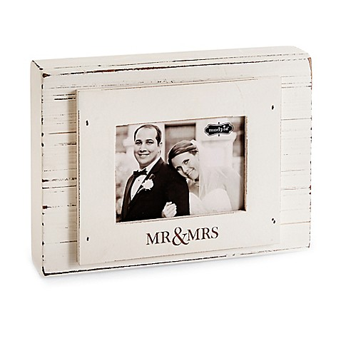 Mud Pie 174 Quot Mr Amp Mrs Quot 3 Inch X 4 Inch Block Picture Frame