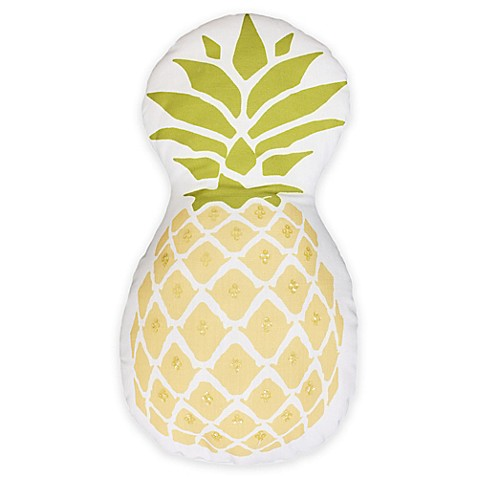 Thro Pineapple Shaped Throw Pillow In Yellow Green