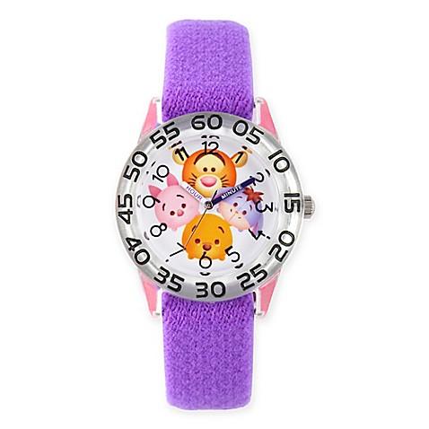 Disney tsum tsum children 39 s pooh and pals time teacher watch in plastic w purple nylon strap for Tsum tsum watch
