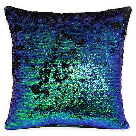 Buy Mermaid Sequin Throw Pillow in Green/Blue from Bed Bath & Beyond