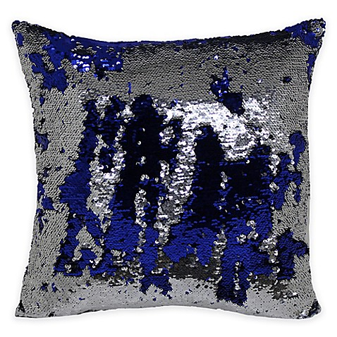 Buy Mermaid Sequin Throw Pillow in Blue/Silver from Bed Bath & Beyond