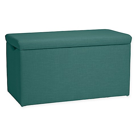 Toy Storage Skyline Furniture Skylar Storage Bench In Linen Laguna From Buy Buy Baby