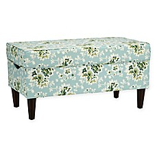 image of Skyline Furniture Katy Storage Bench in Cecilia Sea Green