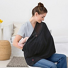 Image Of SKIP*HOP® Grab And Go Nursing Scarf In Black  Nursing Cover