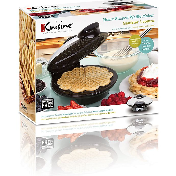 Euro Cuisine Electric Heart Shaped Waffle Maker Bed Bath And Beyond Canada