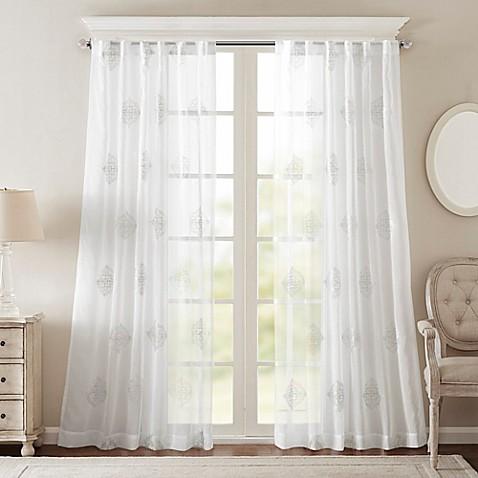 Bombay 174 Massa Rod Pocket Sheer Window Curtain Panel Bed
