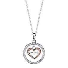 image of Shine Two-Tone Sterling Silver Cubic Zirconia 18-Inch Chain