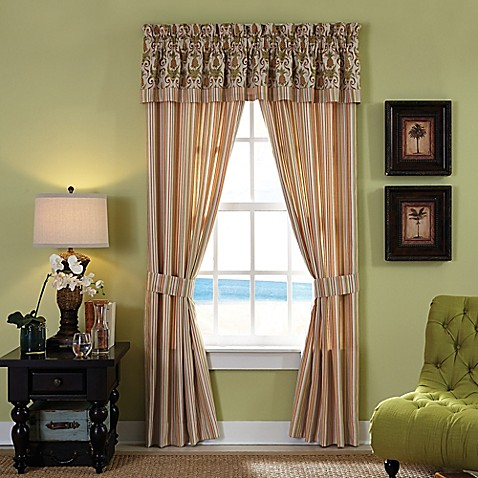 Croscill 174 Pina Colada Window Treatments In Green Bed
