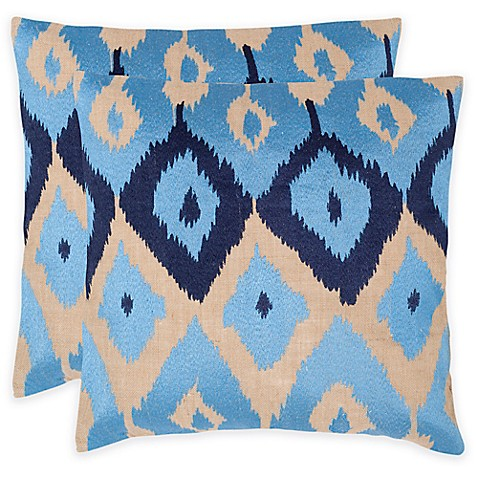 Buy Safavieh Jay 18-Inch Square Throw Pillows in Indigo (Set of 2) from Bed Bath & Beyond