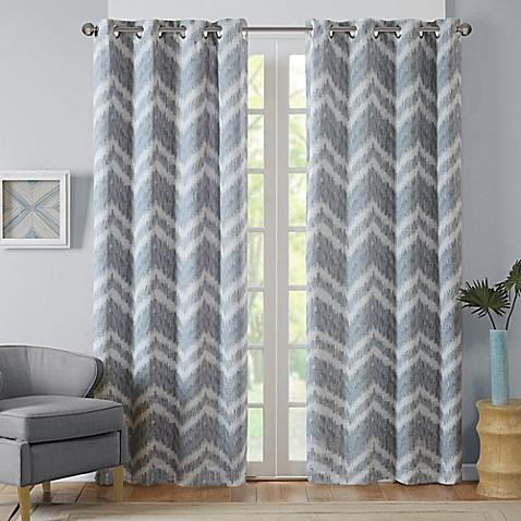 Buy Intelligent Design Seto 63 Inch Room Darkening Grommet Top Window Curtain Panel In Grey From