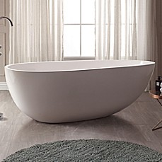 image of Avanity Muse VBT1503-MT 67.5-Inch x 33-Inch Acrylic VersaStone Freestanding Bath Tub in White