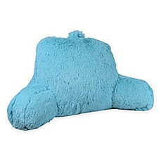 image of klear vu shaggy backrest - Bed Rest Pillow With Arms