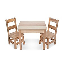 image of Melissa and Doug® Wooden 3-Piece Table and Chair Set