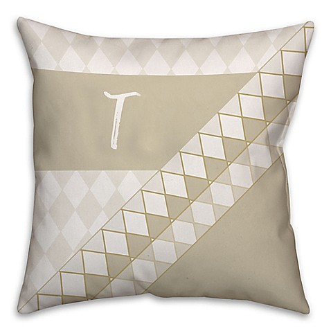 Throw Pillows Native American : Neutral Diamond Square Throw Pillow - Bed Bath & Beyond