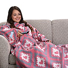 image of Snuggie® Tribal Hearts Blanket in Pink