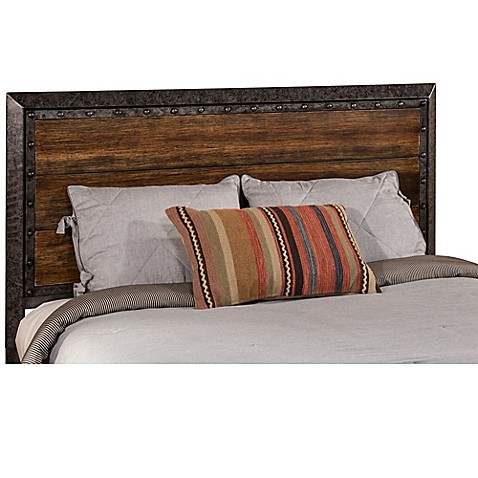buy hillsdale mackinac king headboard in black wood from bed bath beyond. Black Bedroom Furniture Sets. Home Design Ideas