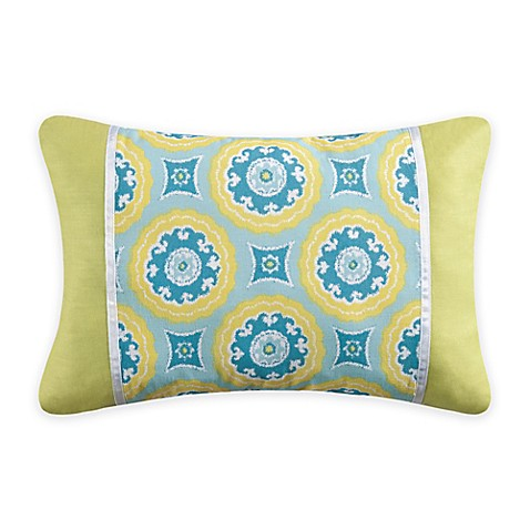 Delilah Oblong Throw Pillow in Blue/Yellow - Bed Bath & Beyond