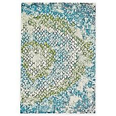 Image Of Feizy Gara Tiles Rug In Blue Green