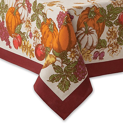 Odell Harvest Spice Frame Border Tablecloth Bed Bath