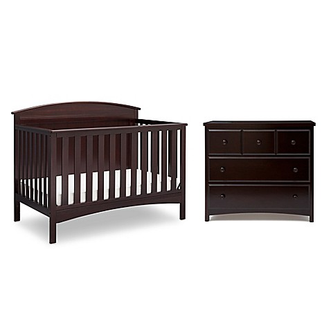 Delta Children Layla Nursery Furniture Collection In Dark