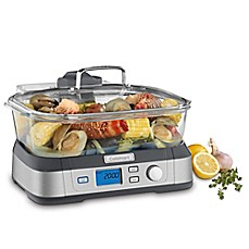 image of Cuisinart® Cookfresh Digital Glass Steamer in Stainless Steel