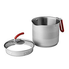 image of Kuhn Rikon 7-Cup Stainless Steel 4th Burner Pot