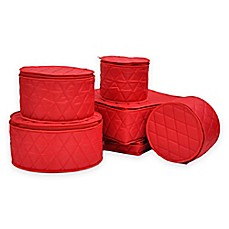 ORG™ 6 Piece Quilted China Storage Set In Red