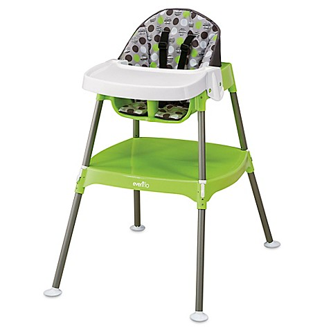 evenflo convertible 3 in 1 high chair in dottie lime buybuy baby. Black Bedroom Furniture Sets. Home Design Ideas