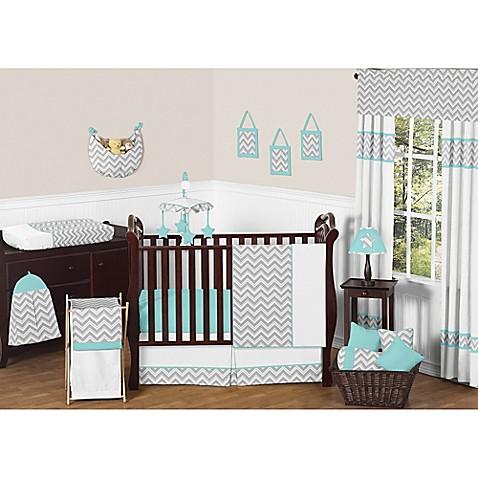 Buy sweet jojo designs zig zag chevron 11 piece crib for Zig zag bedroom ideas