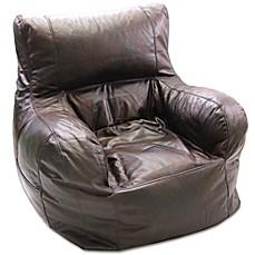 Large Arm Chair Bean Bag Chair In Brown