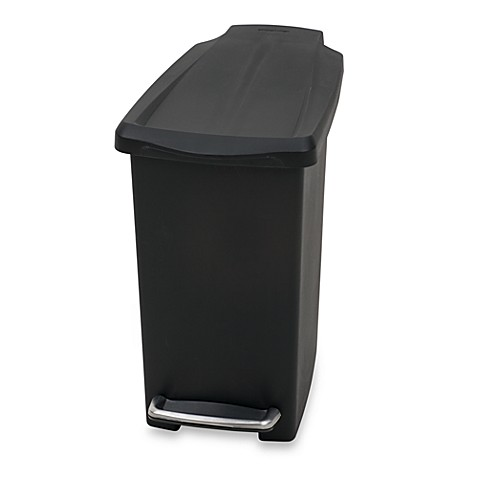 Simplehuman Mini Slim Plastic 10 Liter Step On Trash Can Bed Bath Beyond