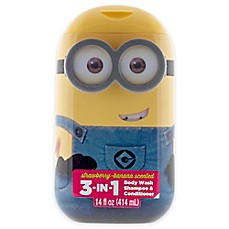 image of Despicable Me® Minions® 14 oz. 3-in-1 Hair and Body Wash in Strawberry Banana