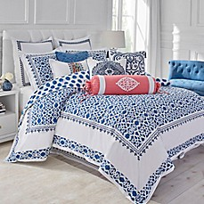 image of Dena™ Atelier Indigo Dream Reversible Duvet Cover in White/Indigo