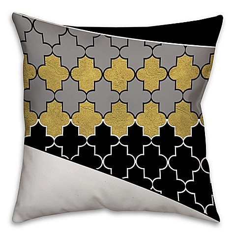 Square Throw Pillow Pattern : Buy Quatrefoil Pattern Square Throw Pillow in Cream from Bed Bath & Beyond