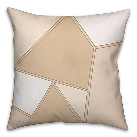 Outdoor Throw Pillows Kmart : Geometric Patchwork Pattern Square Throw Pillow in Cream/White - Bed Bath & Beyond