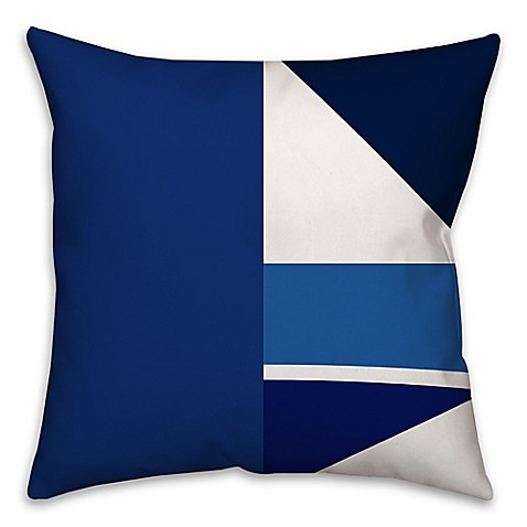 Blue Geometric Throw Pillows : Buy Geometric Patchwork Throw Pillow in Blue/White from Bed Bath & Beyond