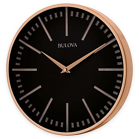 Bulova Classic Wall Clock In Copper Bed Bath Beyond