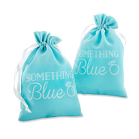 "... Aspen® 12-Piece ""Something Blue"" Muslin Favor Bag - Bed Bath & Beyond"