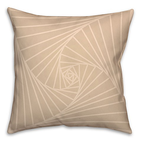 Zen Throw Pillows : Zen Spiral Square Throw Pillow in Cream/White - Bed Bath & Beyond