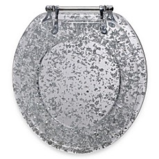 image of Ginsey Silver Foil Resin Toilet Seat