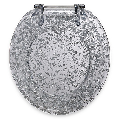 gold foil toilet seat. Ginsey Silver Foil Resin Toilet Seat  Bed Bath Beyond