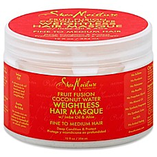 image of SheaMoisture Fruit Fusion Coconut Water 12 oz. Weightless Hair Masque