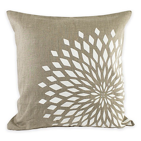 Throw Pillow Covers Bed Bath Beyond : Nine Space Zinnia Square Throw Pillow Cover - Bed Bath & Beyond